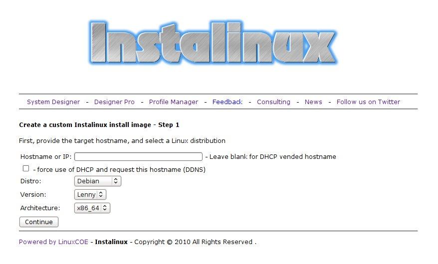 InstaLinux.com - Webkonfigurator