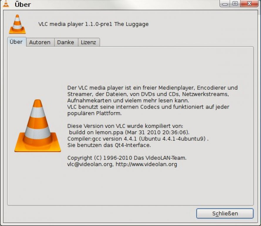 VLC Media-Player 1.1.0 - The Luggage