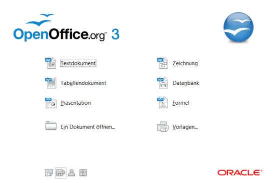 OpenOfficeOrg 3.2.1 Auswahlmenu