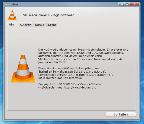 VLC 1.2.0 - Twoflower Screenshot