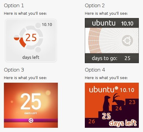 Ubuntu 10.10 Countdown Badges